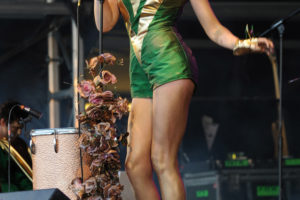 Florence Welch performs with Florence + the Machine live at Bestival 2009, UK